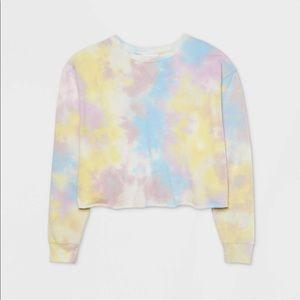 Colsie Tie Dye Cropped Lounge Top